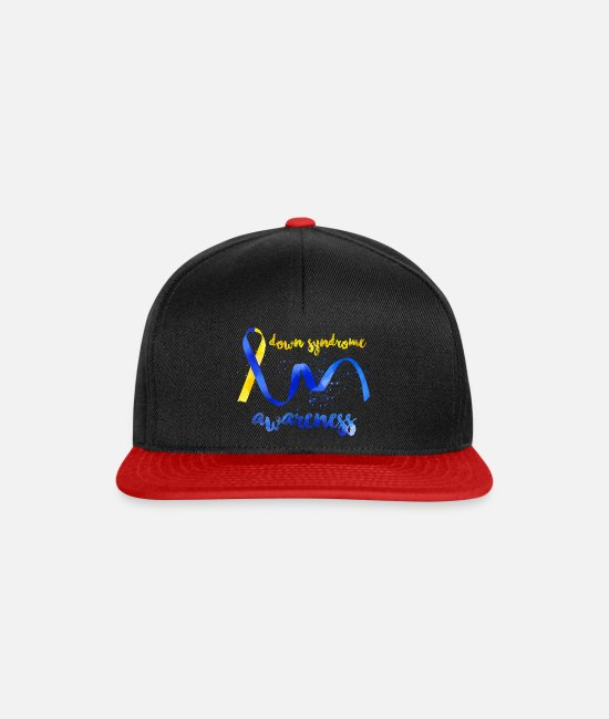 Awareness Caps & Hats - Down Syndrome Awareness - Snapback Cap black/red
