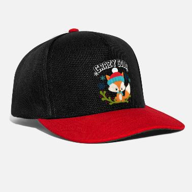Winter Crazy Cold Fox Snow Gift Winter Xmas idee - Snapback cap