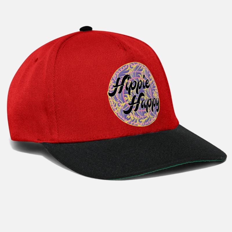 Happy Hippie T-Shirt 60s Snapback Cap  b5cec7350d5