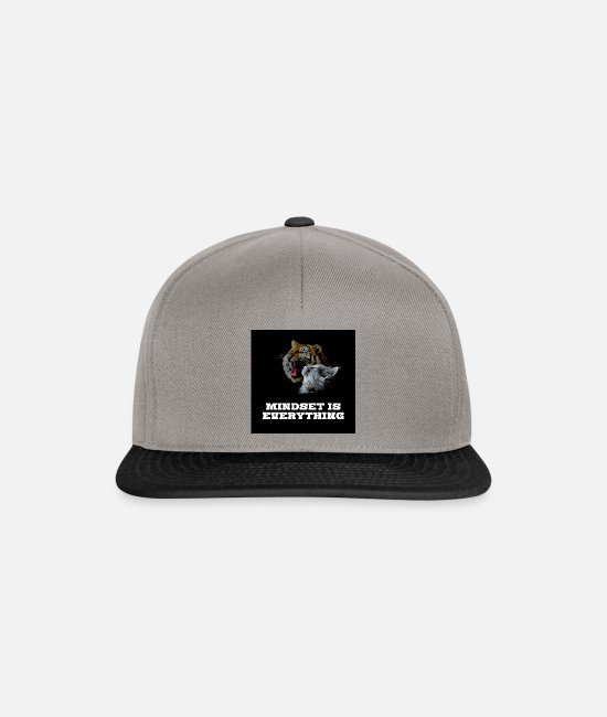 Inspiration Caps & Hats - Mindset is everything - Snapback Cap graphite/black