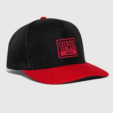 Frites Exercice-extra frites-citations drôles - Casquette snapback
