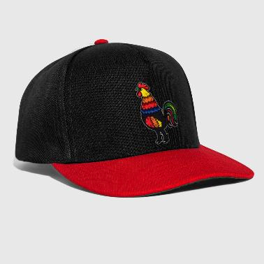 Pollo pollo retrò Gallo LGBT Gay Pride colorato - Snapback Cap