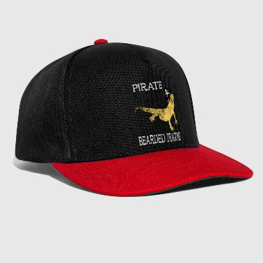 Pirate Bearded Dragon Pirate Lizards Gifts - Snapback cap