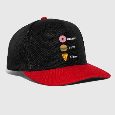 Fast Food Breakfast Lunch Dinner - Snapback Cap