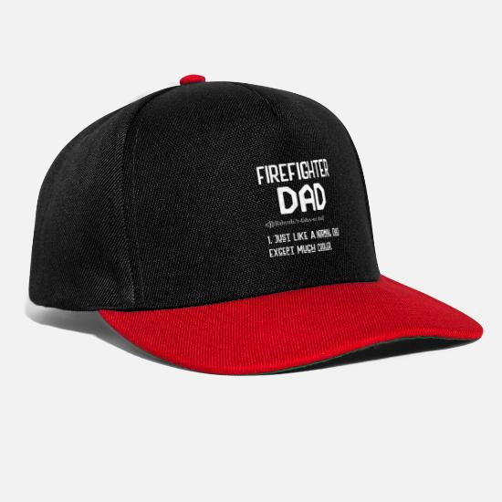 Play Caps & Hats - Firefighter Dad Just Like A Normal Dad Except Much - Snapback Cap black/red