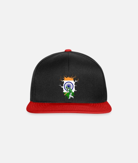 National Team Caps & Hats - INDIA CRICKET player - Snapback Cap black/red
