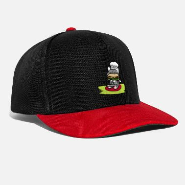 Fast Food Kitten cook chef hat hunger burger fast food - Snapback Cap