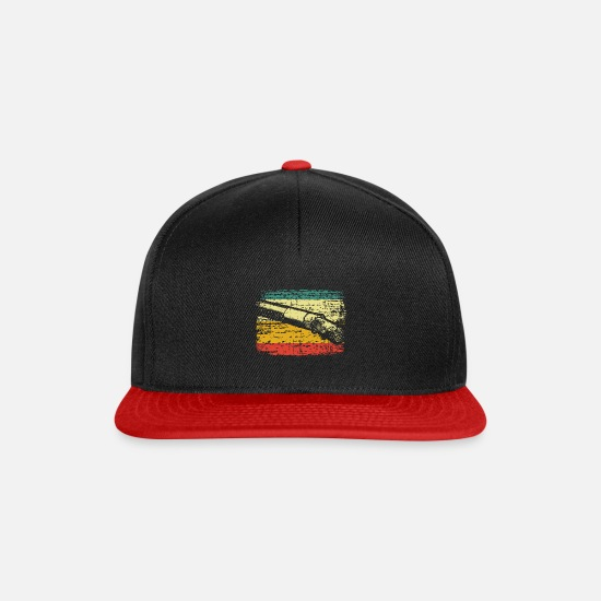 Cigarette Caps & Hats - smoke a cigarette - Snapback Cap black/red