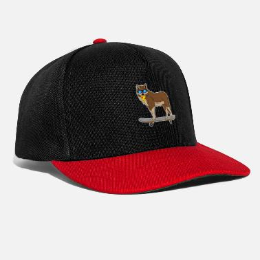 Dog domestic dog hound skate skateboard gift - Snapback Cap