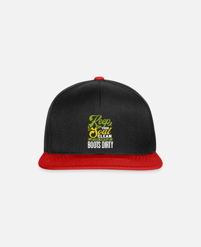 Nature Caps & Hats - Outdoor hiking - Snapback Cap black/red