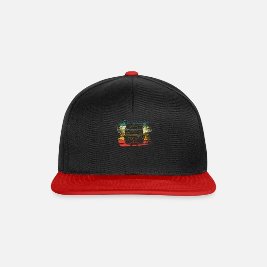Train Driver Caps & Hats - train - Snapback Cap black/red