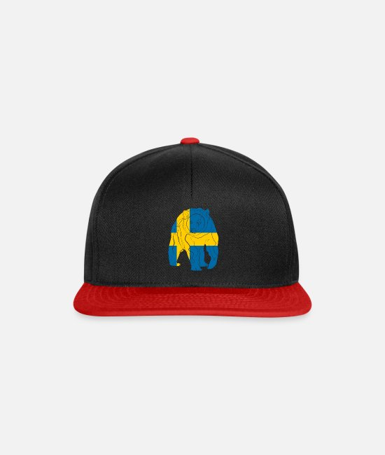 Sweden Caps & Hats - Sweden - Snapback Cap black/red