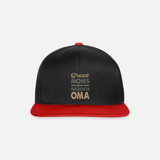 Typography Caps & Hats - Promoted To Oma - Snapback Cap black/red