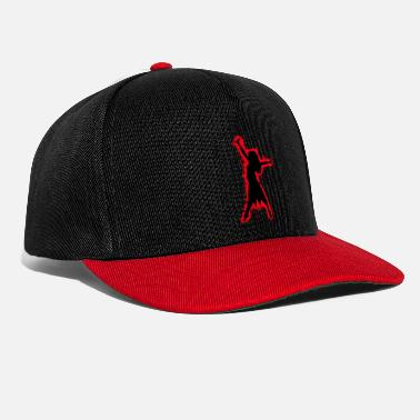 African American Silhouette africaine rouge et noir silhouette - Casquette snapback
