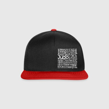 Judo Wortcollage white - Snapback Cap