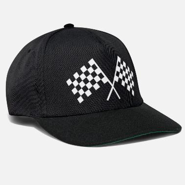 Race Car racing flags - Snapback Cap