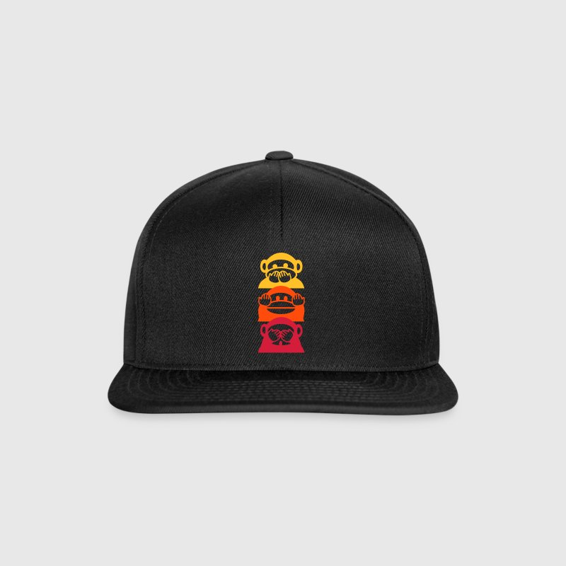 colored monkeys - Snapback Cap