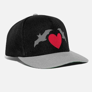 Pygmy Bat Two bats and a heart - Snapback Cap