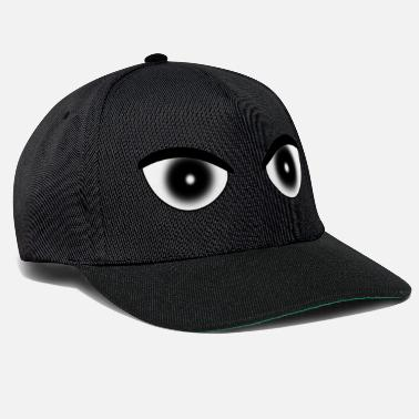Pupil-eye Eyes pupil white - Snapback Cap