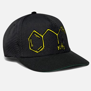 Typography &amp Amphetamine structural formula chemistry - Snapback Cap