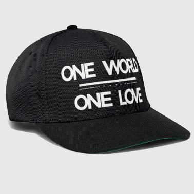 One World - One Love - Snapback cap