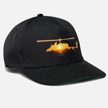 Atmosphere Helicopter with atmospheric sunset - Snapback Cap