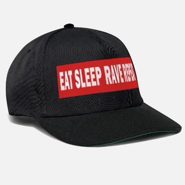 Jumpstyle Spis Sleep Rave Repeat - Electro Dance Music Techno - Snapback Cap