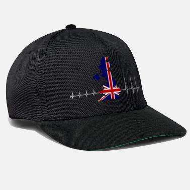 Uk Heartbeat UK - I love UK - Snapback Cap