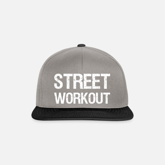 Body Builder Caps & Hats - STREET WORKOUT - Snapback Cap graphite/black