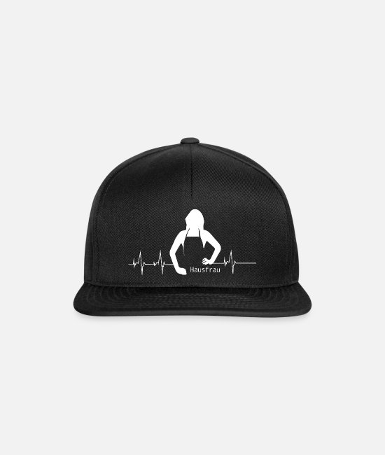 Occupation Caps & Hats - Housewife heartbeat - Snapback Cap black/black