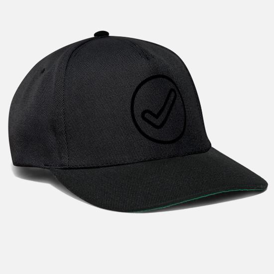 Stylish Caps & Hats - checkmark icon - Snapback Cap black/black
