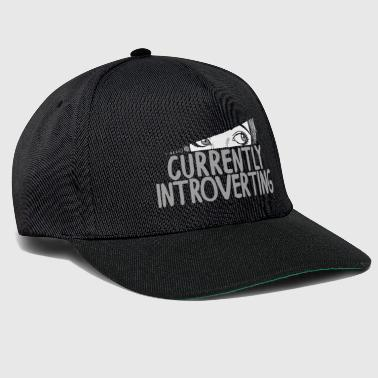 Currently Introverting Intelligence Analysis Quiet - Snapback Cap