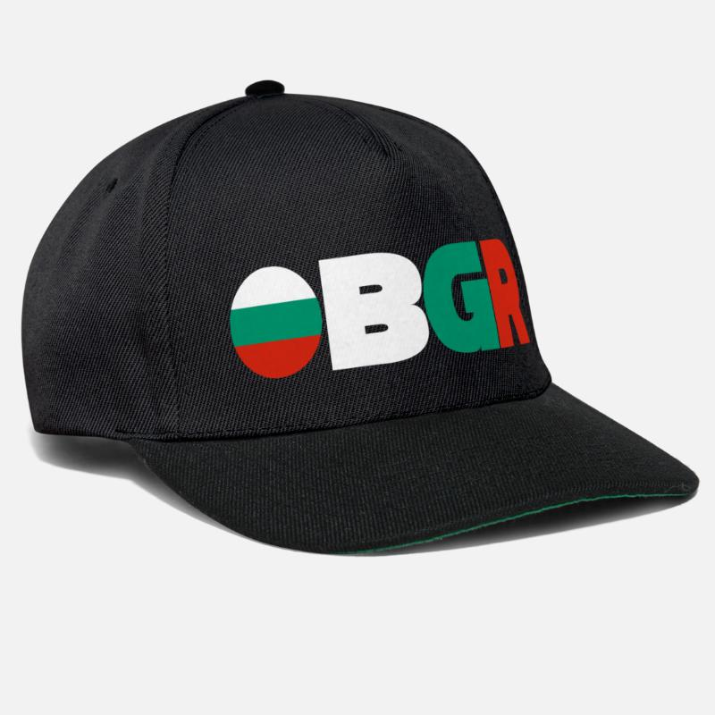 Love Caps & Hats - Bulgaria - Snapback Cap black/black