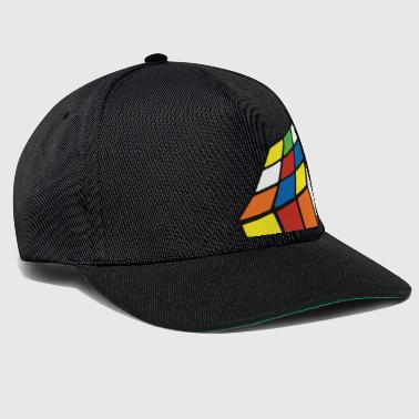 Rubik's Cube Melted Colourful Puddle - Snapback Cap