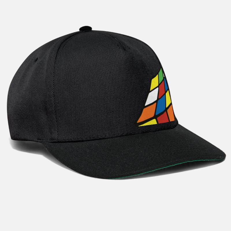 Cool Caps & Hats - meltingcube - Snapback Cap black/black