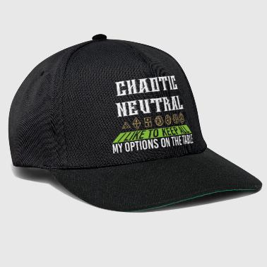 Chaotic Neutral I Keep All My Options Gift - Snapback Cap