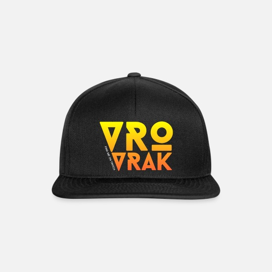 Characters Caps & Hats - Vrovrak (Find me on Twitch) lettering - Snapback Cap black/black