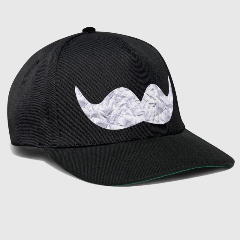 Mustache made of paper - Snapback Cap