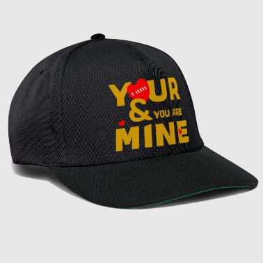 i am yours and you are mine loce cool fashion desi - Snapback Cap