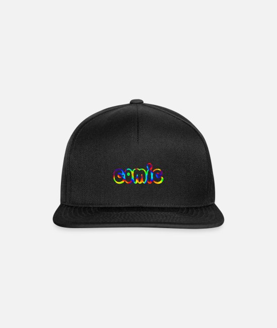Naughty Caps & Hats - comic - Snapback Cap black/black