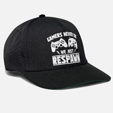 Gaming Spelare Aldrig Just Respawn - Gamers Gift - Snapback keps