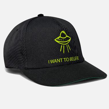 I Want To Believe I WANT TO BELIEVE UFO OVNI - Casquette snapback
