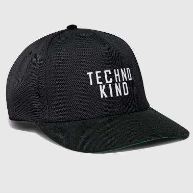 Techno Kind weiß - Snapback Cap