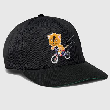 Cat rides a bicycle - Snapback Cap