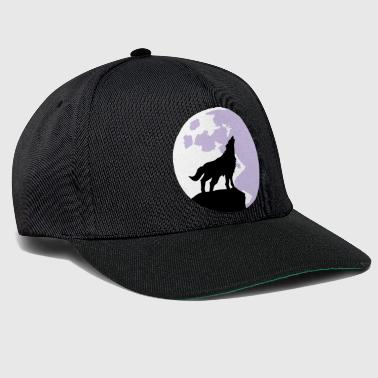 Susi wolf and full moon - Snapback Cap