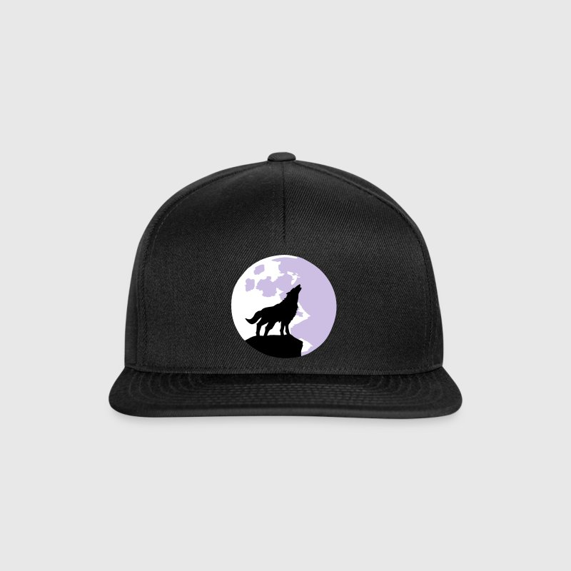 wolf and full moon - Snapback Cap