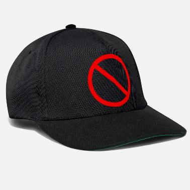 Interdiction panneau d'interdiction - Casquette snapback