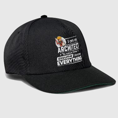 Proud Architect - To Save Time - Snapback Cap