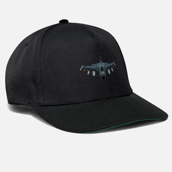 Jet Caps & Hats - fighter jet - Snapback Cap black/black