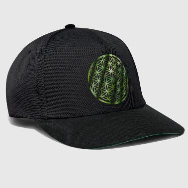 Bamboo Flower of Life - Green Bamboo - Snapback cap